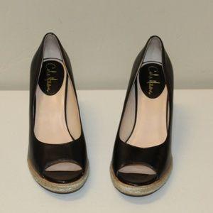 Cole Haan Open Toe Wedge Sandal Women size 8.5 B